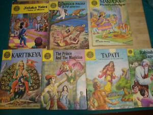 rare Vintage 80s Amar Chitra Katha Comics In English LOT OF 7