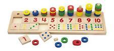 Viga NCT imparare conteggio e abbinare i Numeri gioco 55 Anelli in legno e 20 Pezzi Quadrati