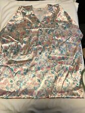 Vintage 80s Mary McFadden Dress Asian Floral Lounge Caftan Party Open Side