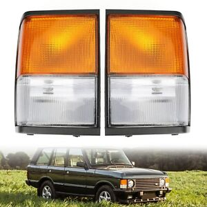 Corner Lamps New For Land Rover Range Rover Classic 1987-1995 Clear