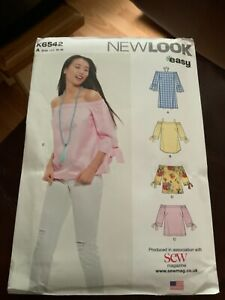 Newlook K6542 Off the shoulder tops   Easy US Sizes 8-18 Unused