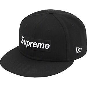 Champions Box Logo New Era Supreme Hat Black  Size 7 3/8