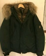 Moncler Grenoble Hooded Down Ski Jacket - Military Green - Size 3