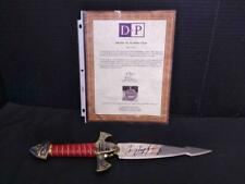 Highlander Dagger signed by Adrian Paul and Christopher Lambert. With COA