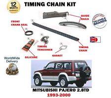 FOR MITSUBISHI PAJERO 2.8TD V26 V46 4M40 ENGINE 1993-2000 NEW TIMING CHAIN KIT