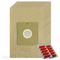 10 x Vacuum Cleaner Dust Filtered Paper Bags For DeLonghi Hoover Bag + Fresh