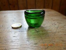 Early Antique Unusual Squat Green Glass Eye Bath