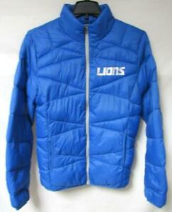 Detroit Lions Men's Size Small Packable Quilted Jacket with Bag B1 474