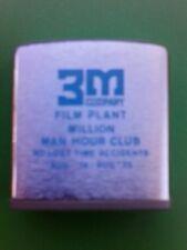 Vtg 3M Zippo Tape Measure Film Plant Million Man Hour Club 1975