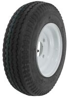 """One New 4.80-8 """"C"""" (6 ply rating) Boat Trailer Tire & 4 Bolt Wheel Rim """"P"""""""