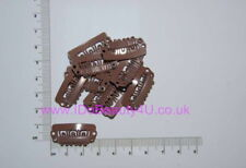 10 X HAIR PIECE WIG CLIP EXTENSIONS SNAP CLIPS LIGHT BROWN 2.8cm WITH SILICONE