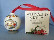 Hutschenreuther - Weihnachtskugel 1996 - Kugel aus Porzellan - NEU - OVP