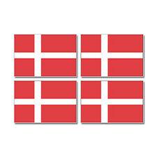 Denmark Danish Country Flag - Sheet of 4 - Window Bumper Stickers