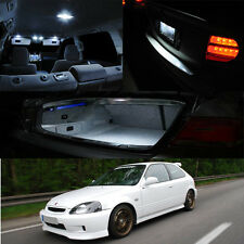 96-00 Honda Civic White LED Bulb Full Package (Map Dome + Trunk + License Plate)
