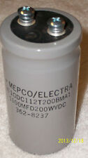 Mepco Electrolytic Capacitor 1100uf mf Mfd 200V 200Vdc New – Tested Good