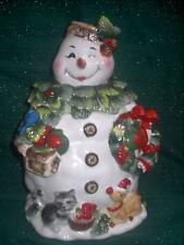 Home Interiors Snowman Winter Treats / Cookie Jar # 77025 New in Original Box