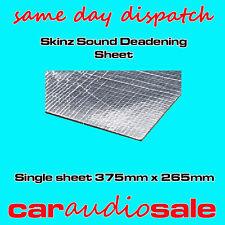 SKINZ AUTO SOUND deadening smorza verifica materiale singolo foglio 375mm x 265mm