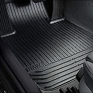 BMW OEM 5 SERIES Black Rubber Floor Mats Rear 51472153889