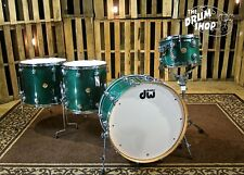 DW Jazz Series Drum Set, Maple Gum Shells, Turquoise Green Stain Lacquer Finish