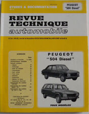 revue technique automobile PEUGEOT 504 diesel cip 3114