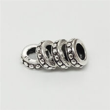 10 of 925 Sterling Silver Gear Spacer Beads 5mm Large Hole for European Bracelet