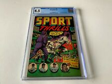 SPORT THRILLS 15 CGC 4.5 AWESOME LB COLE COVER YANKEES PRE CODE STAR COMICS 1951