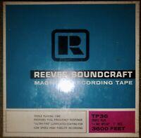 "SEALED REEVES SOUNDCRAFT TP36 TRIPLE PLAY 7"" REEL-TO-REEL TAPE 3600 FT"