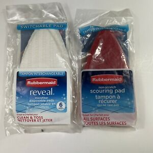 Rubbermaid Switchable Non Scratch and Microfiber Packs Brand NEW