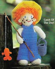 ADORABLE Fishing Freddie Doll/Toy/ Crochet Pattern INSTRUCTIONS ONLY