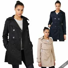 Cotton Trench Machine Washable Solid Coats & Jackets for Women