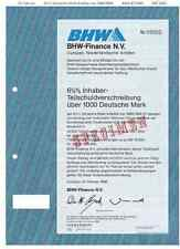BHW-baufinanz 1000dm 1986