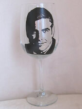 Hand Painted Libbey Clear Wine Glass - GEORGE CLOONY