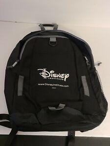 Disney Institute Backpack Walt Disney Black & Gray Lots Of Pockets School Bag