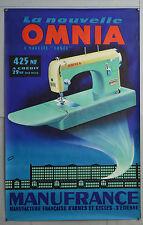 Affiche originale ancienne de 1962 - OMNIA - Machine à coudre - MANUFRANCE