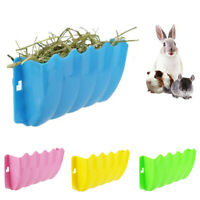 LD_ SN_ Small Plastic Pet Rabbit Hanging Grass Feeder Rack Hay Bowl Holder Box