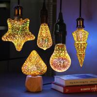 LED Light Bulb E27 Fireworks Decorative 3D Edison Party Lamp Christmas Decor