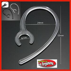 2 Clip per auricolare Bluetooth ricambio gancio orecchio archetto 6 mm trasparen
