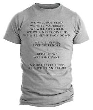 Donald Trump Speech We Will Not Bend We Are Americans Patriotic Trump Shirts