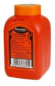 Deep Orange Food Colouring Powder 500g Preema