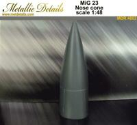 Metallic Details MDR4802 - 1/48 - Nose cone for model aircraft MiG-23
