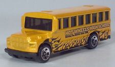 "Hot Wheels 1988 Ford B Series Conventional School Bus 3.25"" Die Cast Scale Model"
