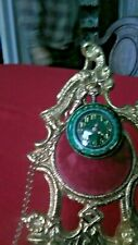Slide Chain Green Guilloche Enamel Fine! New listing Antique Hunting Case Lady'S Watch w