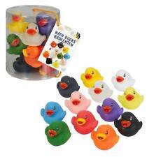 12PCS Patos Baño Baño de goma flotante de varios colores badeenten Juguete Regalo De Navidad 058