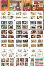 FRANCE Les 8 CARNETS Auto Adhésifs de l'ANNEE 2010 NEUFS NON Pliés** LUXE