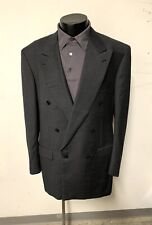 44 L BRIONI Double Breasted Blazer 6-Button Jacket 100% Wool
