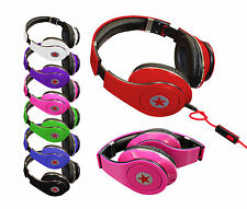 Foldable Folding Over Ear Headphones Headsets Mic for iPod iPad iPhone