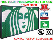 """FULL COLOR 27""""X52"""" 10mm WiFi OUTDOOR Business Video Image Open DIGITAL LED SIGN"""