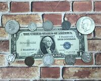 "Great Coin and Currency Collection of Old Money ""Silver Coins in Every Lot"""