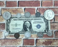 """Great Coin and Currency Collection of Old Money """"Silver Coins in Every Lot"""""""