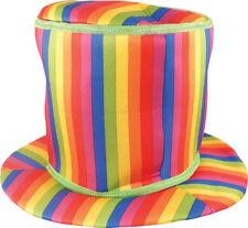 Adult Rainbow Top Hat - Fancy Dress Accessory Gay Pride Costume Festival Soft